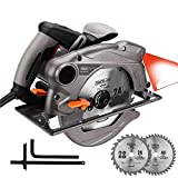 Sega circolare Tacklife PES01A, doppia lama, guida laser e 1500 watt di potenza